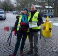 Mahnwache in Braunschweig zum 2. Fukushima Jahrestag mit Ulrike und Kevin