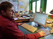 Georg bei der Arbeit