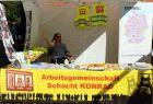 Info-Stand in Ventschau (Foto: Stefan Baumgart)