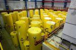 Jede Menge Castor-Behälter mit hochradioaktivem Atommüll – aus Jülich (Foto) und aus dem Forschungsreaktor Garching bei München – sollen in das Zwischenlager Ahaus rollen. Foto: Betreiber FZJ