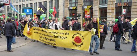 Endlager-Transparent in Berlin